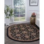 Alise Rugs Lagoon Transitional Oriental Oval Area Rug 5 3 X 7 3