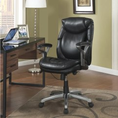 Balt Posture Perfect Chair Dining Chairs Johannesburg Serta Smooth Black Eco Friendly Bonded Leather Air Health And Wellness Mid Back Office ...