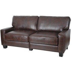 Leather Sofa Deals Free Shipping Chesterfield Gillingham Sofascore Serta Monaco Collection Biscuit Brown Bonded