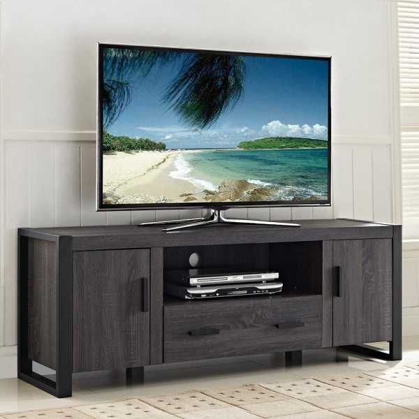 Charcoal Grey Tv Stand - Shopping Great Deals Entertainment Centers