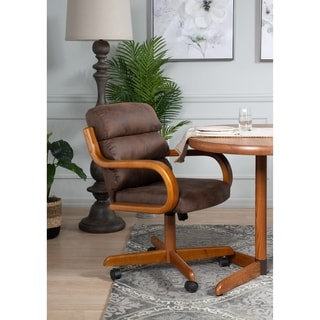 Solid Wood Rolling Caster Chair Tilt Cushion Seat Today 309