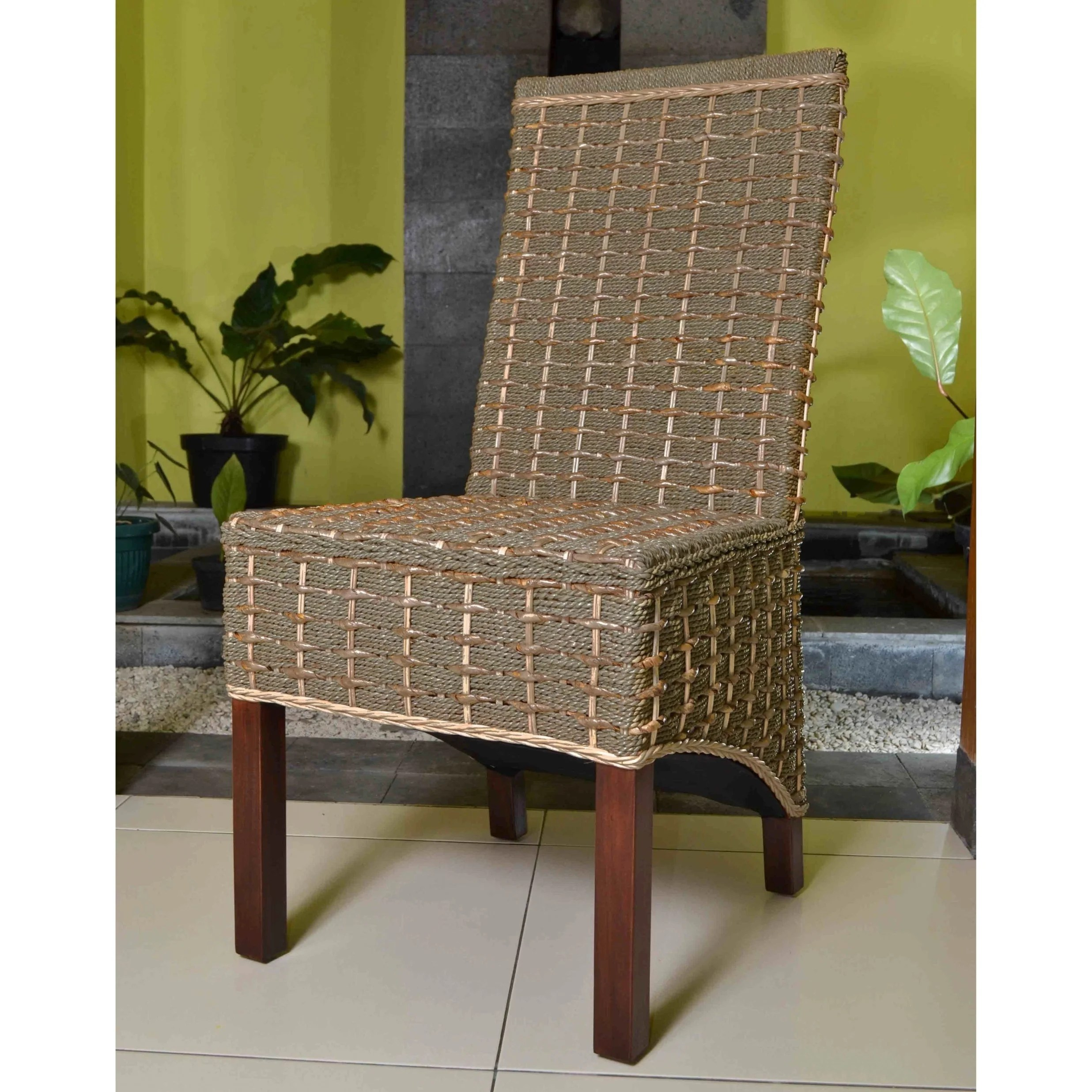 Seagrass Dining Chairs International Caravan 39bayu 39 Woven Abaca Seagrass Dining