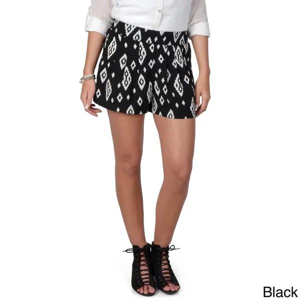 Hailey Jeans Co. Junior's Band Waist Print Shorts, fashion blog, lookbook, fashion trends