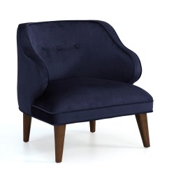 Overstock Arm Chair Swivel Upholstered Retro Navy Curved Accent Shopping