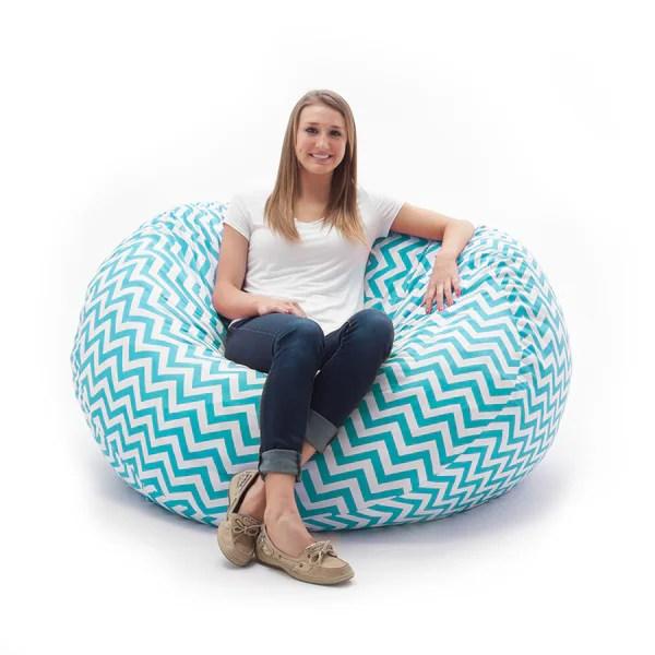big joe bean bag chair reviews dora the explorer fufsack memory foam zig zag blue 4-foot large lounge - free shipping today ...