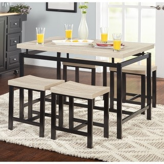 kitchen table sets best value cabinets buy 5 piece dining room online at overstock com simple living delano two tone set