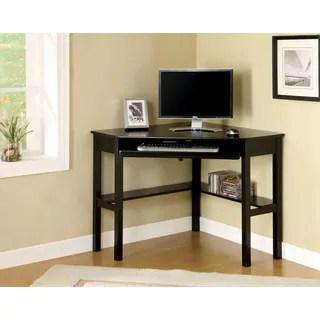 Jena Black Corner Desk With Keyboard Tray