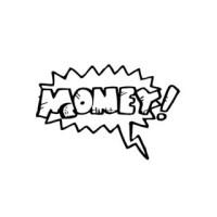 Shop Money Word Saying Vinyl Wall Art - Free Shipping On ...