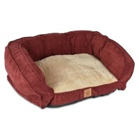 SnooZZy Burgundy Gusset Couch Pet Bed - Free Shipping ...