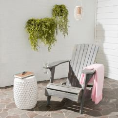 Gray Adirondack Chairs Oversized Outdoor Chair Cushions Shop Safavieh Living Vista Ash Grey Acacia Wood