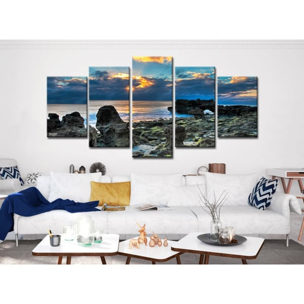 shop bruce bain sun rise piece canvas wall art multi color