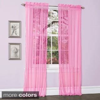 Lush Decor Lola Sheer Curtain Panel Pair Free Shipping On Orders