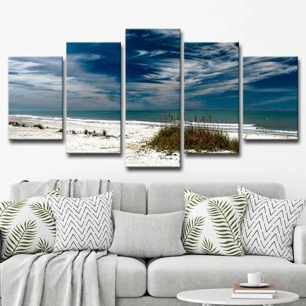 shop readyhangart silent beach multi piece canvas wall art set