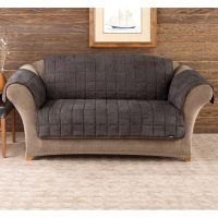 Shop Sure Fit Deluxe Pet Mini Check Loveseat Cover - Free ...