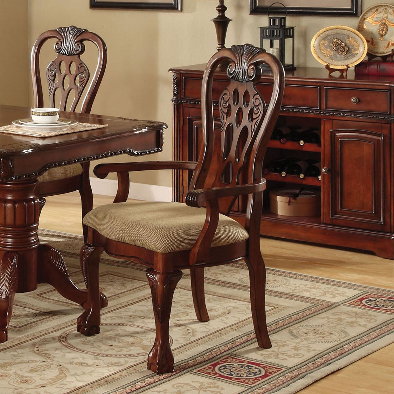 Shop Furniture of America Harper Cherry Arm Chair Set of