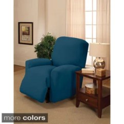 Blue Wingback Chair Slipcovers Ikea Living Room Covers Buy Recliner Wing Online At Overstock Sanctuary Large Stretch Jersey Slipcover