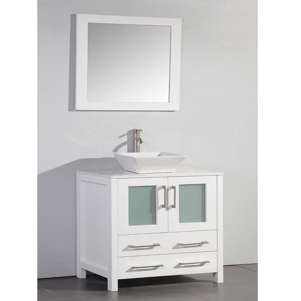 Shop 36 in White Bathroom Vanity with vessel bowl and
