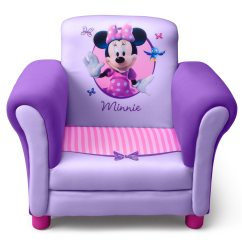 Minni Mouse Chair Office Ottawa Delta Minnie Purple Upholstered Children 39s