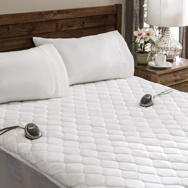 Sunbeam Waterproof California Kingsize Heated Electric Mattress Pad  Overstock Shopping  The