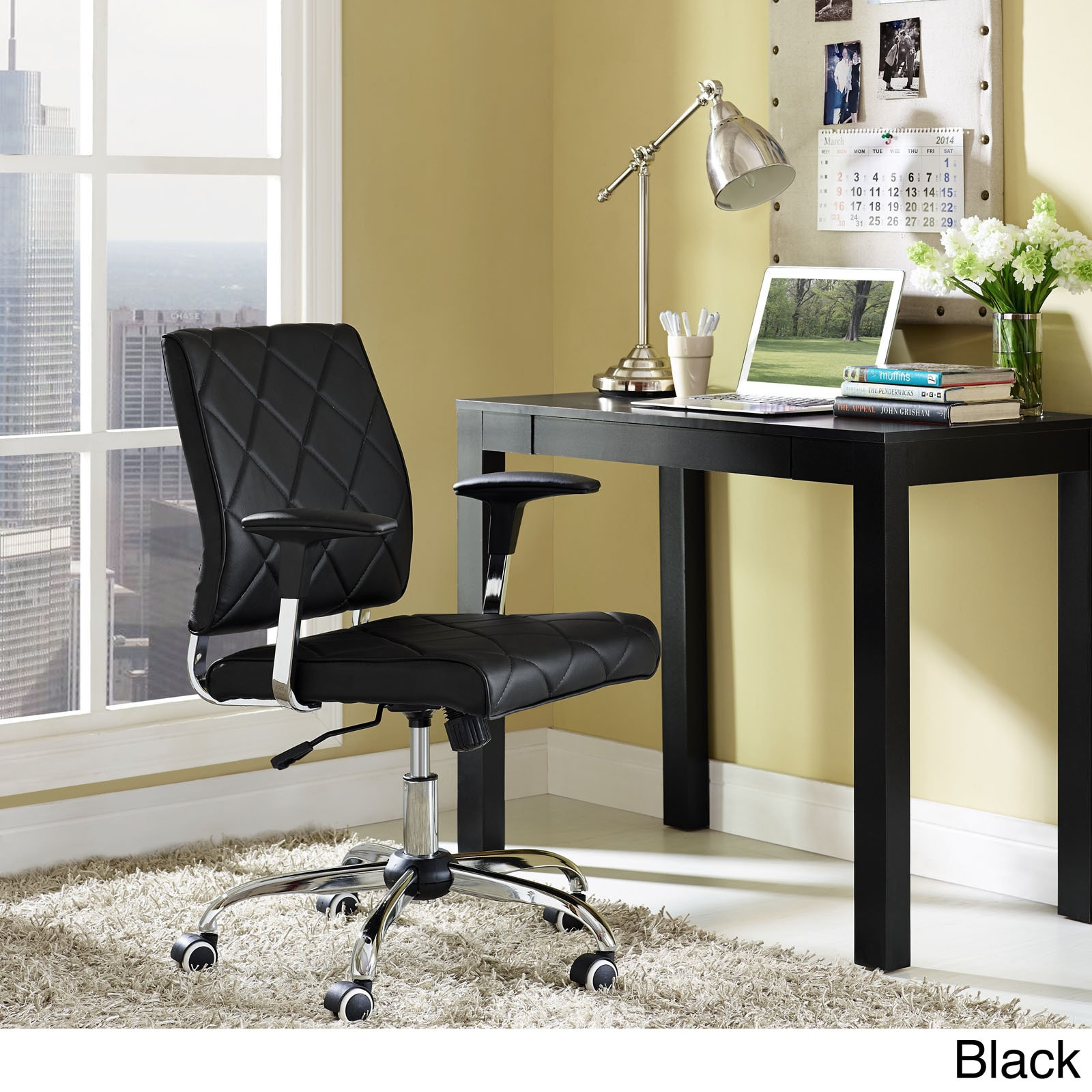 office chair overstock eio push lattice diamond tufted vinyl