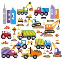 City Construction Peel & Stick Kids Room Wall Decal for ...