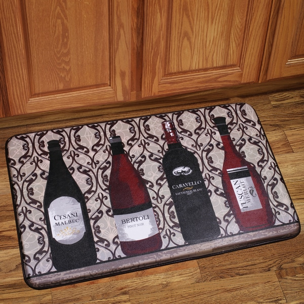 wine kitchen rugs red decor for shop memory foam assorted design floor mat free