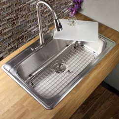 Overstock Kitchen Sinks White Knobs For Cabinets Shop 33 Inch 18-gauge Stainless Steel Drop-in Single Bowl ...