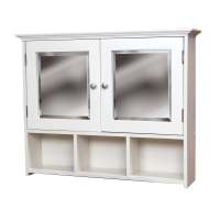 White Wall Mounted Medicine Cabinet - Overstock Shopping ...