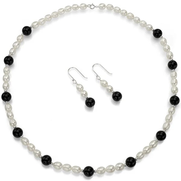 Shop DaVonna Sterling Silver White Freshwater Pearls and