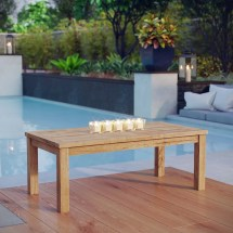 Pier Outdoor Patio Teak Rectangle Coffee Table - Free