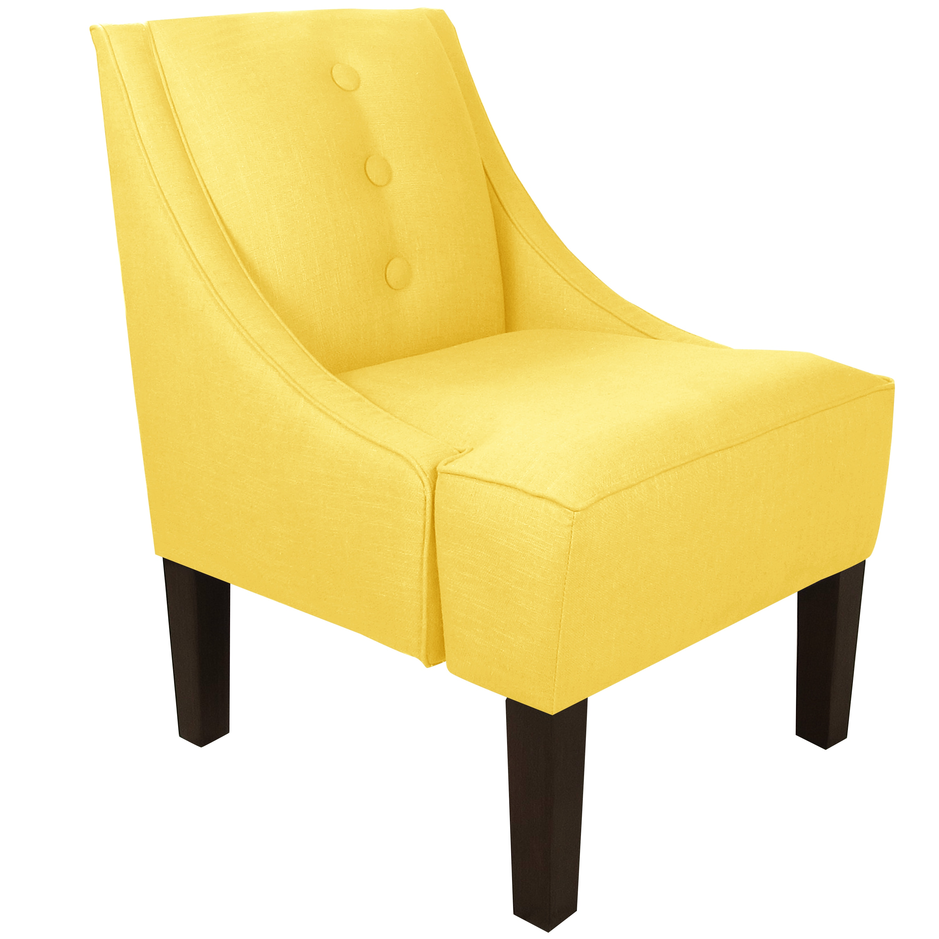 overstock arm chair leather chairs and ottomans made to order yellow three button swoop with