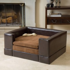 Leather Or Fabric Sofa For Dogs Microfiber Sectional Sleeper New Doggerville Brown Faux Wood Large Rectangular Cushy Dog