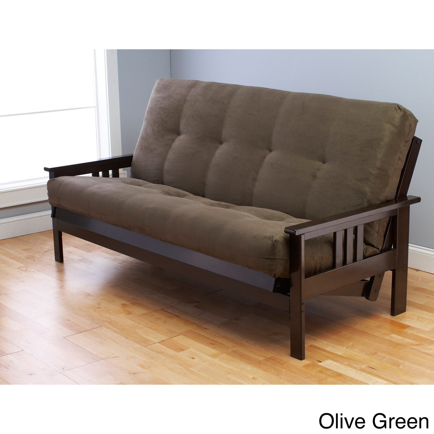 futon sofa bed queen size cushion cover online india somette monterey hardwood suede