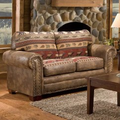Sofa And Loveseat Set Up Dark Green Velvet Sierra Mountain Lodge Printed Tapestry - Free ...