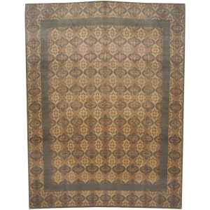 Handmade Herat Oriental Indo Tibetan Wool and Silk Rug (India) - 9'5 x 12'