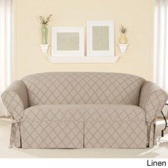Sure Fit Durham One Piece Sofa Slipcover Jetton One-piece - Overstock ...