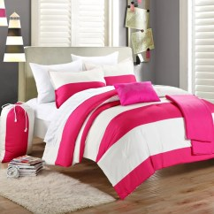 Reversible Sofa Diy Murphy Bed Shop Chic Home Ruby Pink/ Ivory Striped 9-piece Dorm Room ...