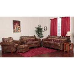 Sierra Red Living Room Sectional Wall Decals Stickers Shop Pine Canopy Belmore Brown Tapestry Mountain Lodge 4 Piece Sofa Set
