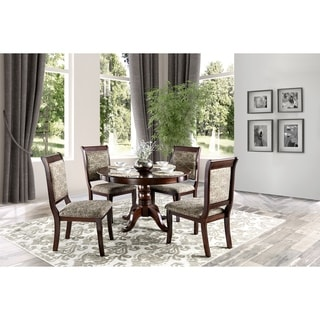 furniture of america ravena antique cherry piece round dining set