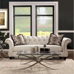 Agatha Sofa Reviews Sears Leather Natuzzi Furniture Of America Traditional Tufted
