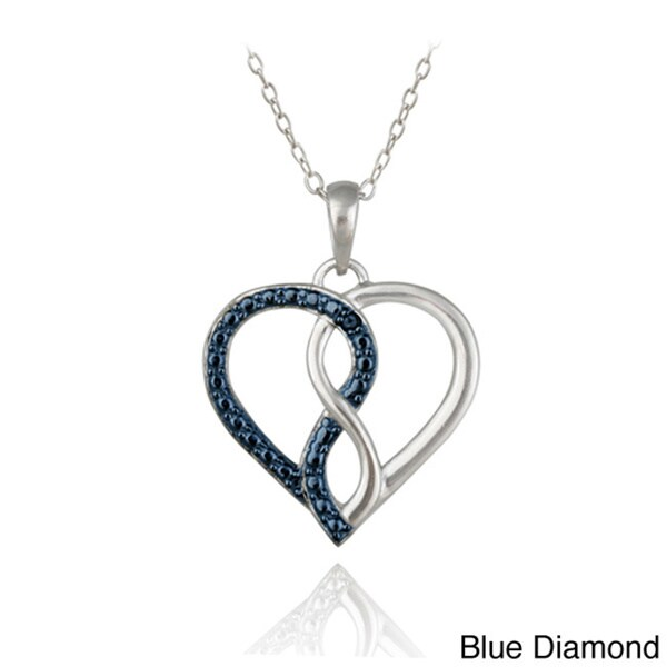 Shop DB Designs Sterling Silver Blue or Black Diamond