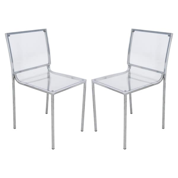 lucite acrylic chairs cheap massage shop leisuremod almeda clear dining side chair set of 2