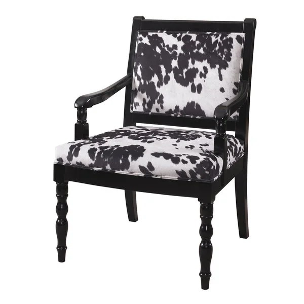 cow print chair ergonomic office amazon shop glossy black free shipping today overstock