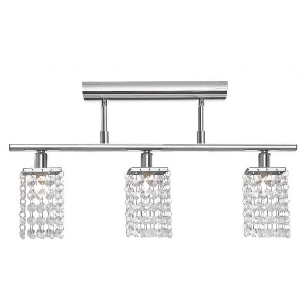 Shop Chrome 3-light Bar Semi Flush Mount with Clear