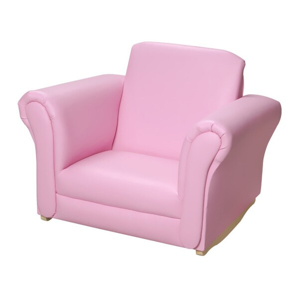 kids upholstered rocking chair stair lifts brisbane shop gift mark home pink free shipping today overstock com 9304403