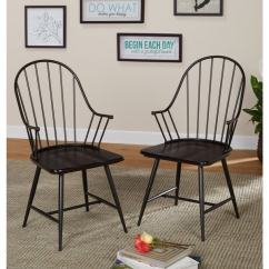 Overstock Com Chairs Dining Chair Covers Wayfair Uk Shop Simple Living Milo Black And Espresso Mixed Media Arm Set Of 2