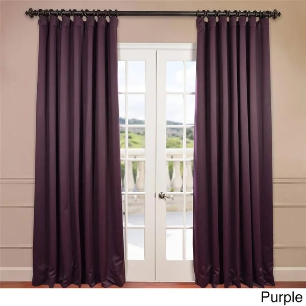Exclusive Fabrics Extra Wide Thermal Blackout 96inch Curtain Panel  16476104  Overstockcom