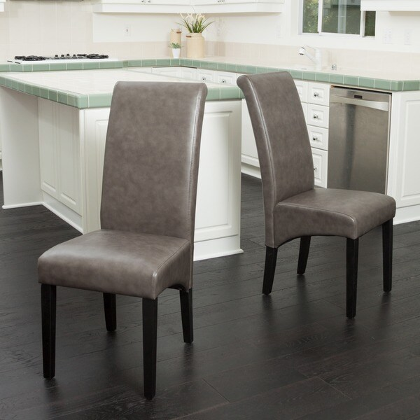 christopher knight leather chair cover hire milton keynes home morgan bonded dining (set of 2) - free shipping today ...