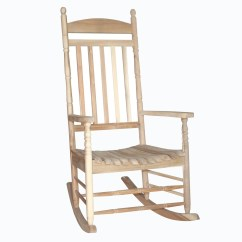Unfinished Rocking Chair Throne Style Shop Acacia Wood Porch Rocker Free Shipping