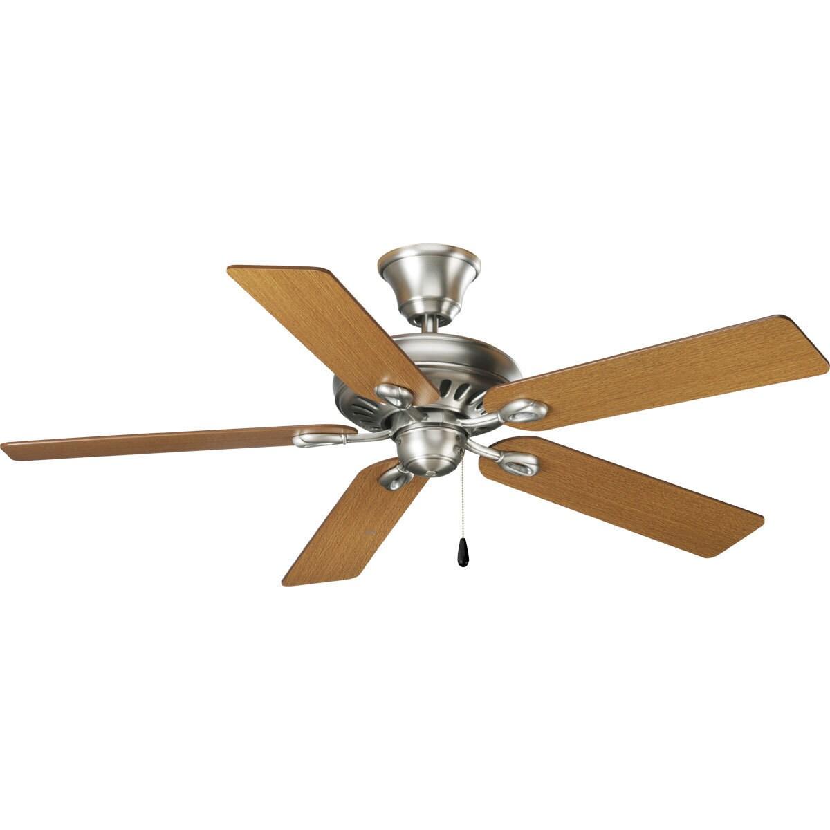 progress lighting airpro signature 52 inch 5 blade antique nickel ceiling fan